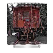 Old Red Train Shower Curtain
