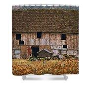 Old Rosedale Barn Shower Curtain
