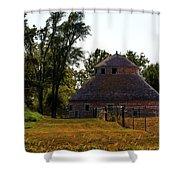 Old Round Barn Shower Curtain