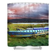 Old Row Boats Shower Curtain