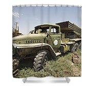 Old Russian Bm-21 Launch Vehicle Shower Curtain