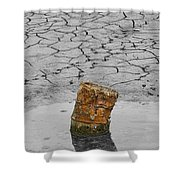 Old Rusted Barrel Abstract Shower Curtain