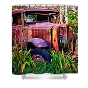 Old Rusting Truck Shower Curtain