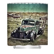 Old Rusty Truck Shower Curtain