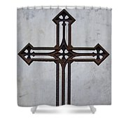 Old Rusty Vintage Cross Shower Curtain