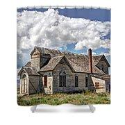 Old Schoolhouse - Ovid - Idaho Shower Curtain