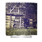 Old Shed Shower Curtain by Joana Kruse