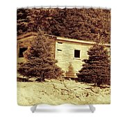 Old Shed Nothing Left But Memories Shower Curtain
