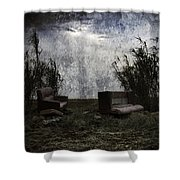 Old Sofas Shower Curtain