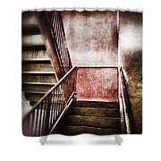 Old Stairwell Shower Curtain
