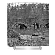 Old Stone Bridge Over The Unami Creek - Sumneytown Pa Shower Curtain
