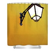 Old Street Lamp Shower Curtain by Carlos Caetano