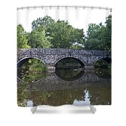 Old Sumneytown Pike Bridge Over The Perkiomen Creek Shower Curtain