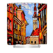 Old Tallinn Shower Curtain