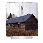 Old Time Barn From Days Gone By Shower Curtain