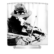 Old Time Fiddle Player No.560 Shower Curtain