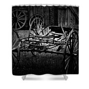 Old Times Turn Shower Curtain