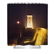 Old Tower And Moon Shower Curtain