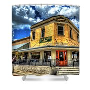 Old Town Bryan Drug Store Shower Curtain
