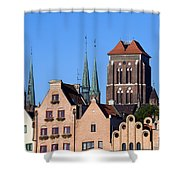 Old Town In Gdansk Shower Curtain