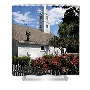 Old Town Mystic Church Shower Curtain