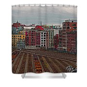 Old Town Vancouver Shower Curtain
