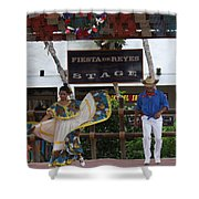 Old Towne San Diego Dancing Shower Curtain