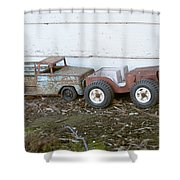 Old Toys II Shower Curtain