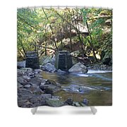 Old Train Trestles Shower Curtain
