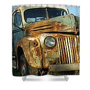 Old Tri-way Truck Shower Curtain