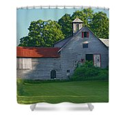Old Vermont Barn Shower Curtain