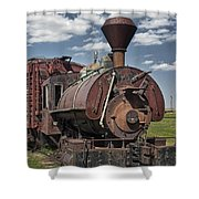 Old Vintage 1880's Railroad Train No.0394 Shower Curtain
