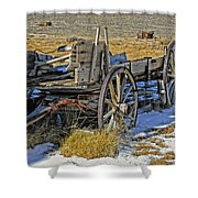Old Wagon At Bodie Ghost Town Shower Curtain