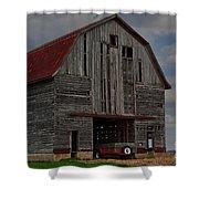 Old Wagon Older Barn Shower Curtain