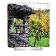 Old Water Well Shower Curtain
