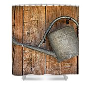 Old Watering Can Shower Curtain