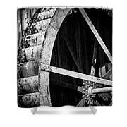 Old West Water Mill 2 Shower Curtain by Darcy Michaelchuk