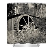 Old West Water Mill 3 Shower Curtain by Darcy Michaelchuk