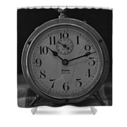 Old Westclock In Black And White Shower Curtain
