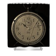 Old Westclock In Sepia Shower Curtain