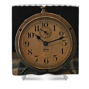 Old Westclock Shower Curtain