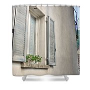 Old Window With Shutter Shower Curtain