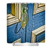 Old Wood Door Shower Curtain