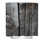 Old Wood On A Barn Iron Hill, Quebec Shower Curtain