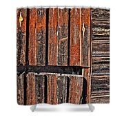 Old Wooden Wall Shower Curtain