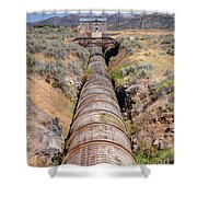 Old Wooden Water Pipeline - Rural Idaho Shower Curtain