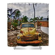 Old Yellow Truck Florida Shower Curtain