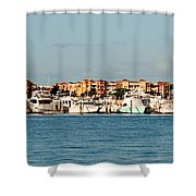 Olde Naples Seaport Shower Curtain