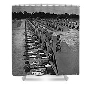 Oldiers Stand By For Inspection Shower Curtain