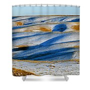 Oldman River Valley In Winter Shower Curtain